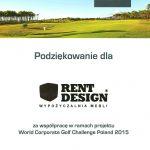 Turniej golfowy WCGC Polad 2015 z meblami Rent Design