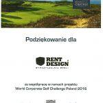 Turniej golfowy WCGC Polad 2016 z meblami Rent Design