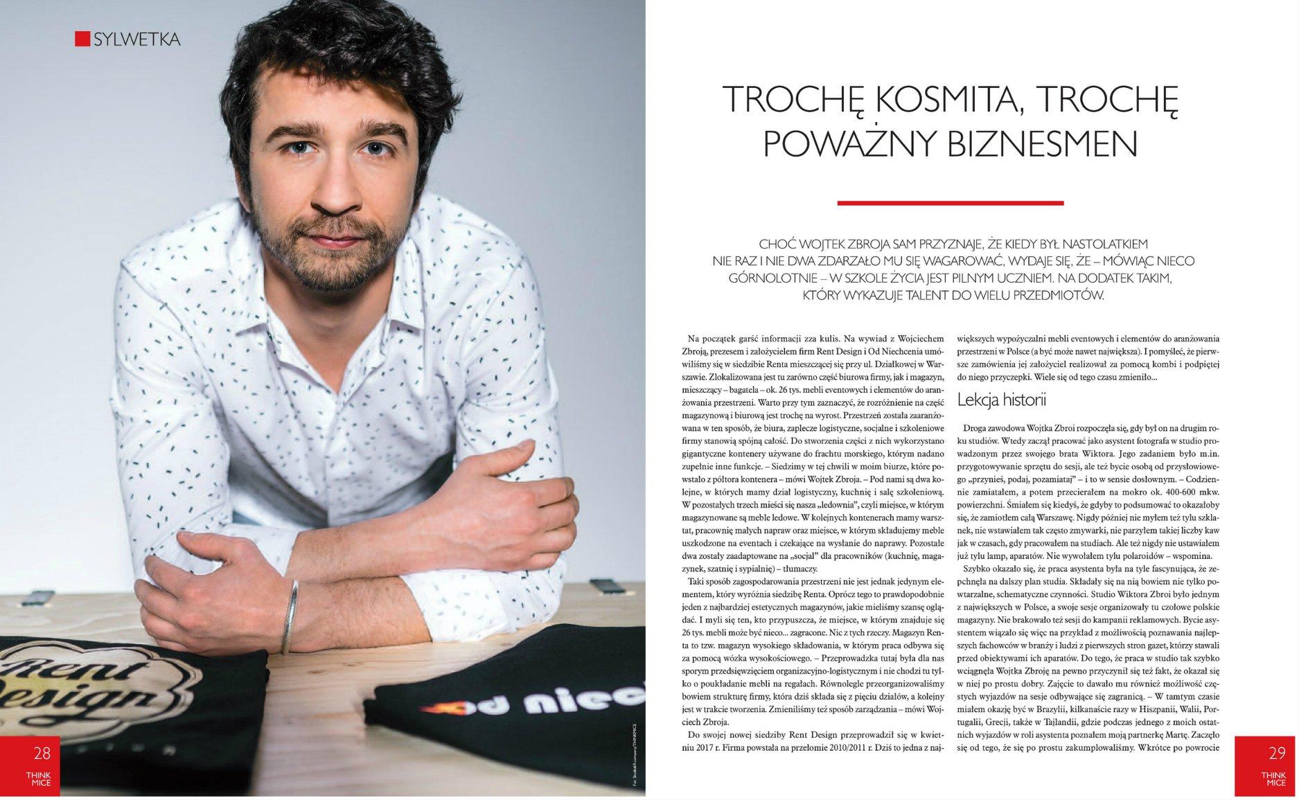 2018_02_01_Wojtek Zbroja w Think Mice wielki wywiad